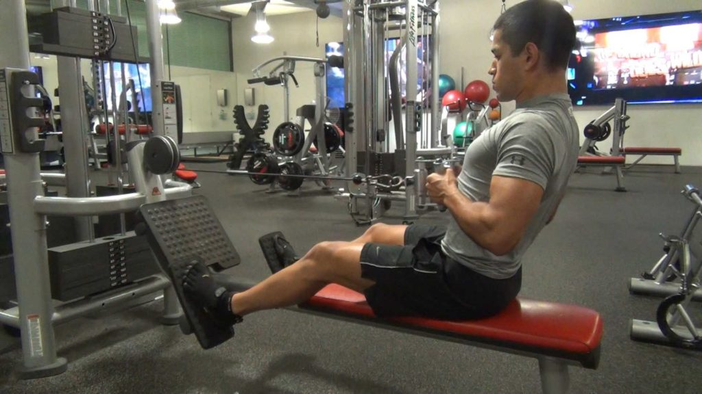 seated row gym exercise